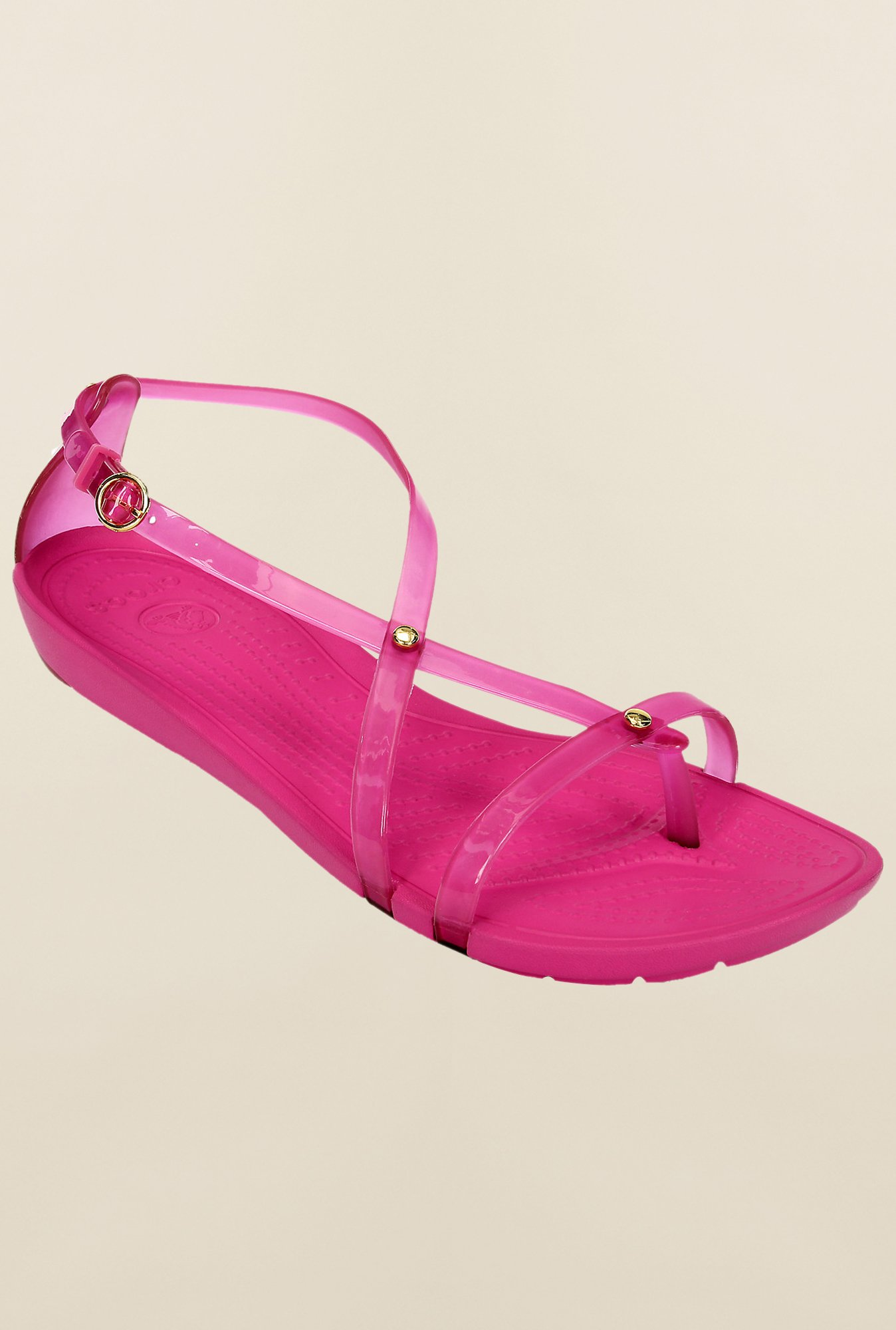 Crocs Really Sexi Fuchsia Cross Strap Sandals