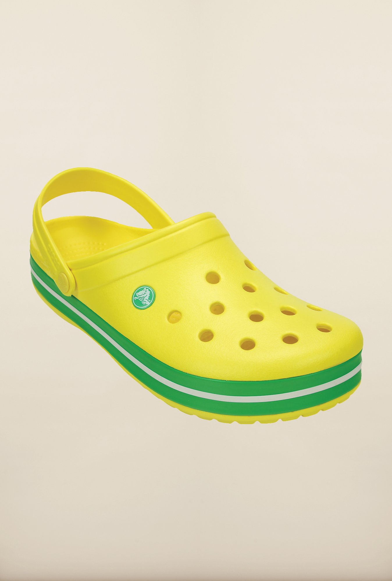 Crocs Crocband Lemon Yellow & Green Clogs