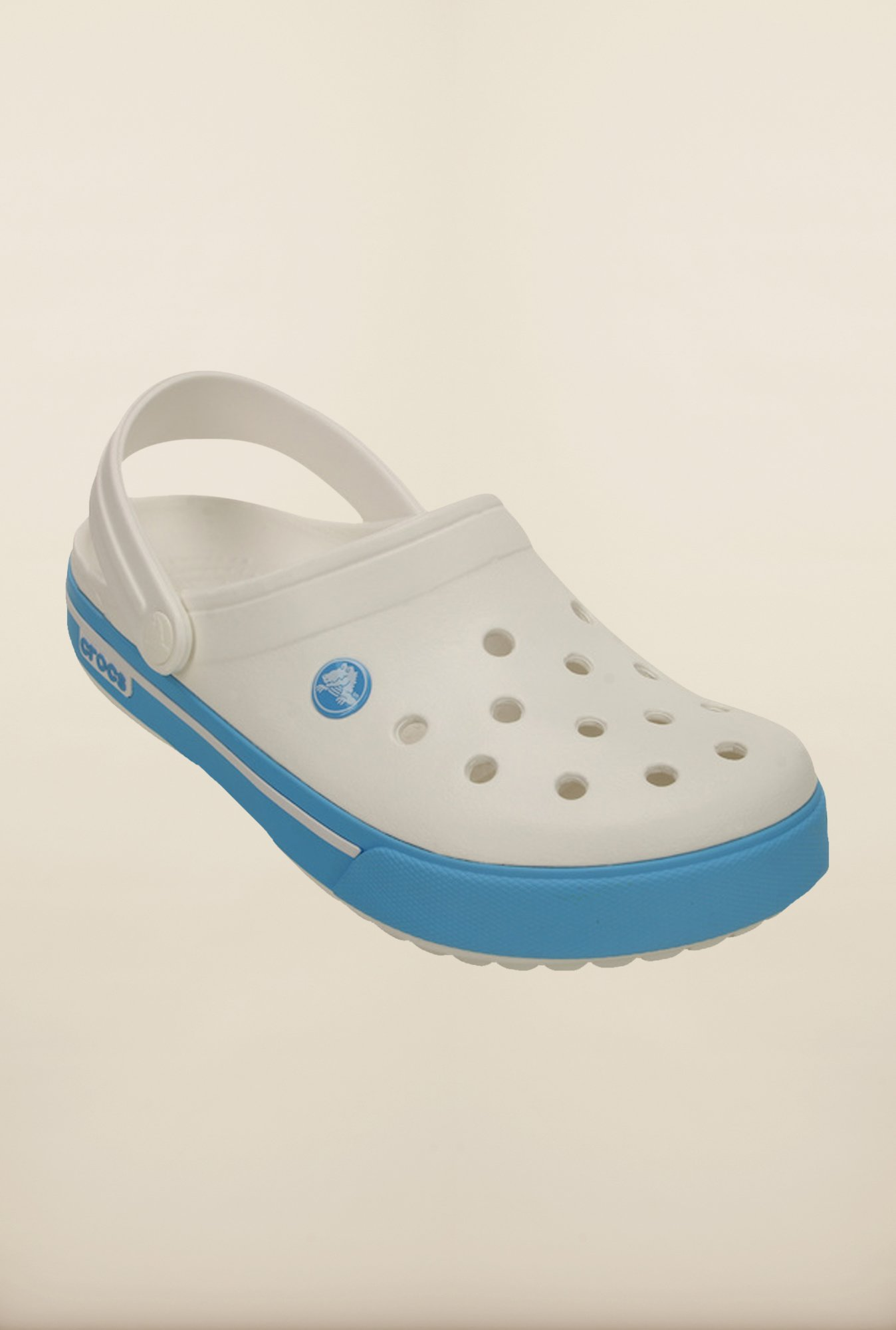 Crocs Crocband White & Blue Clogs