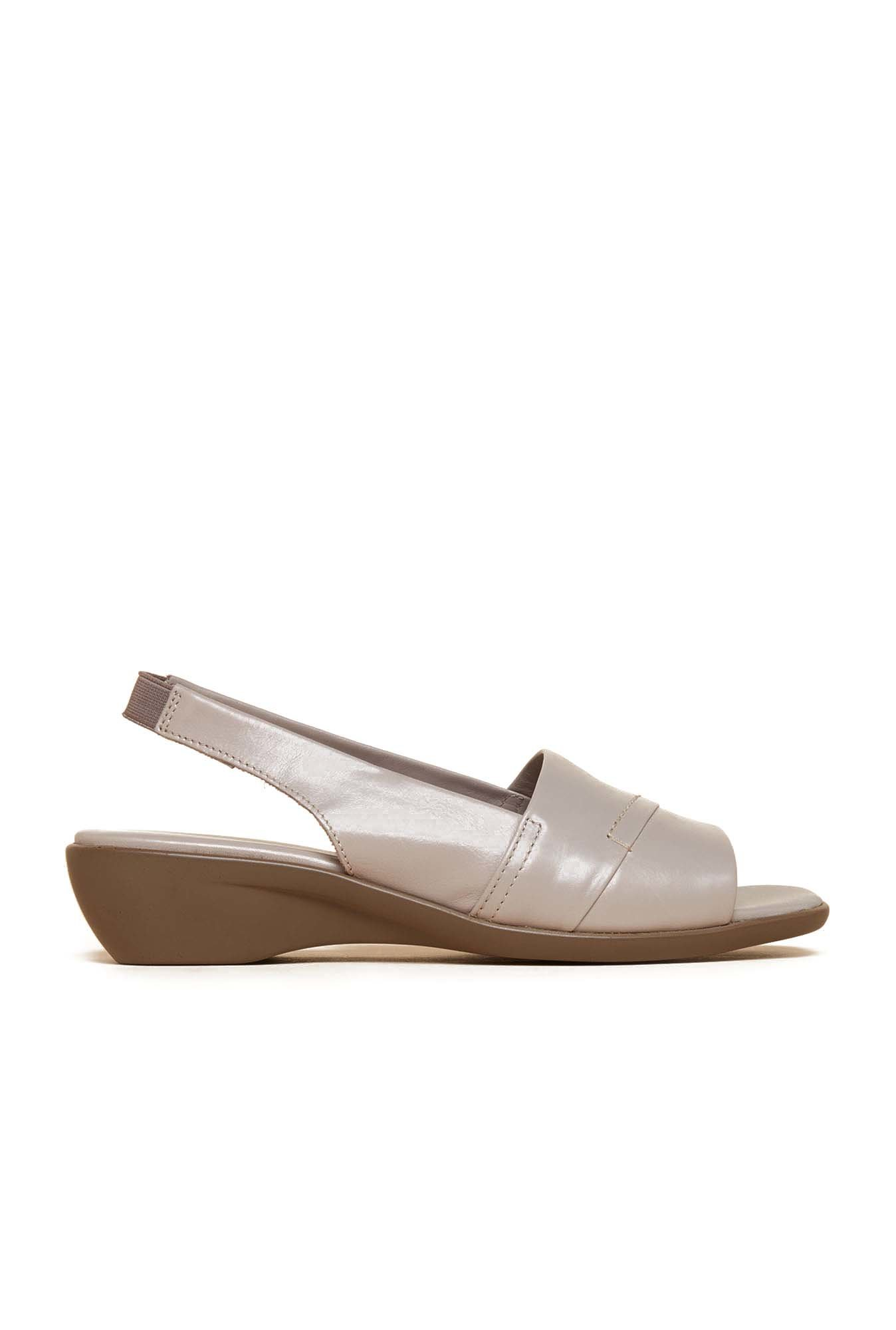 Aerosoles Beige Back Strap Leather Sandals