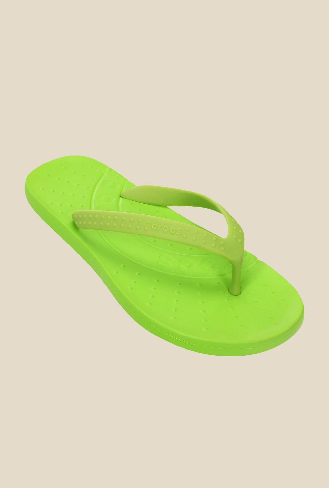 Crocs Chawaii Volt Green Flip Flops