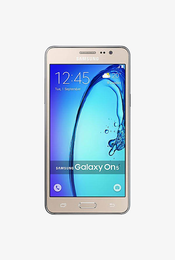 Samsung Galaxy On5 8 GB (Gold) 1.5 GB RAM, Dual SIM 4G