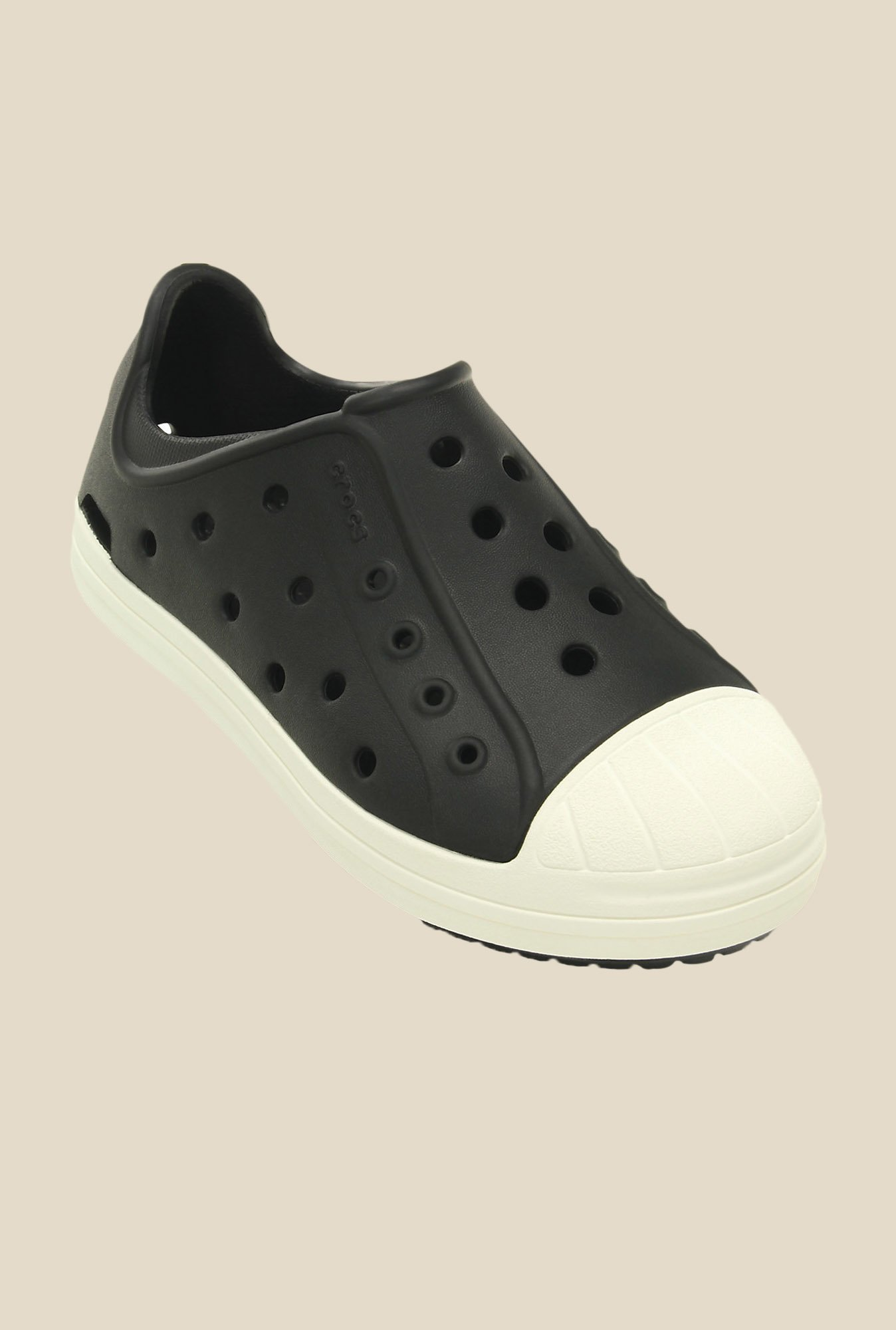 Crocs Bump It K Black & Oyster Casual Shoes