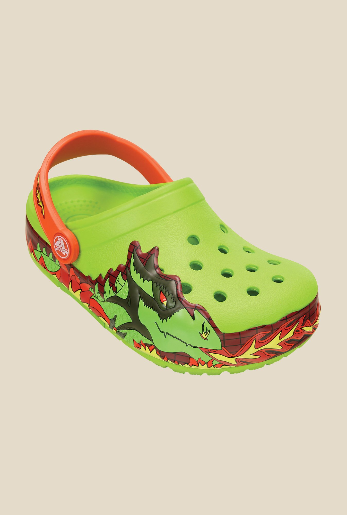 Crocs Fire Dragon Volt Green Clogs