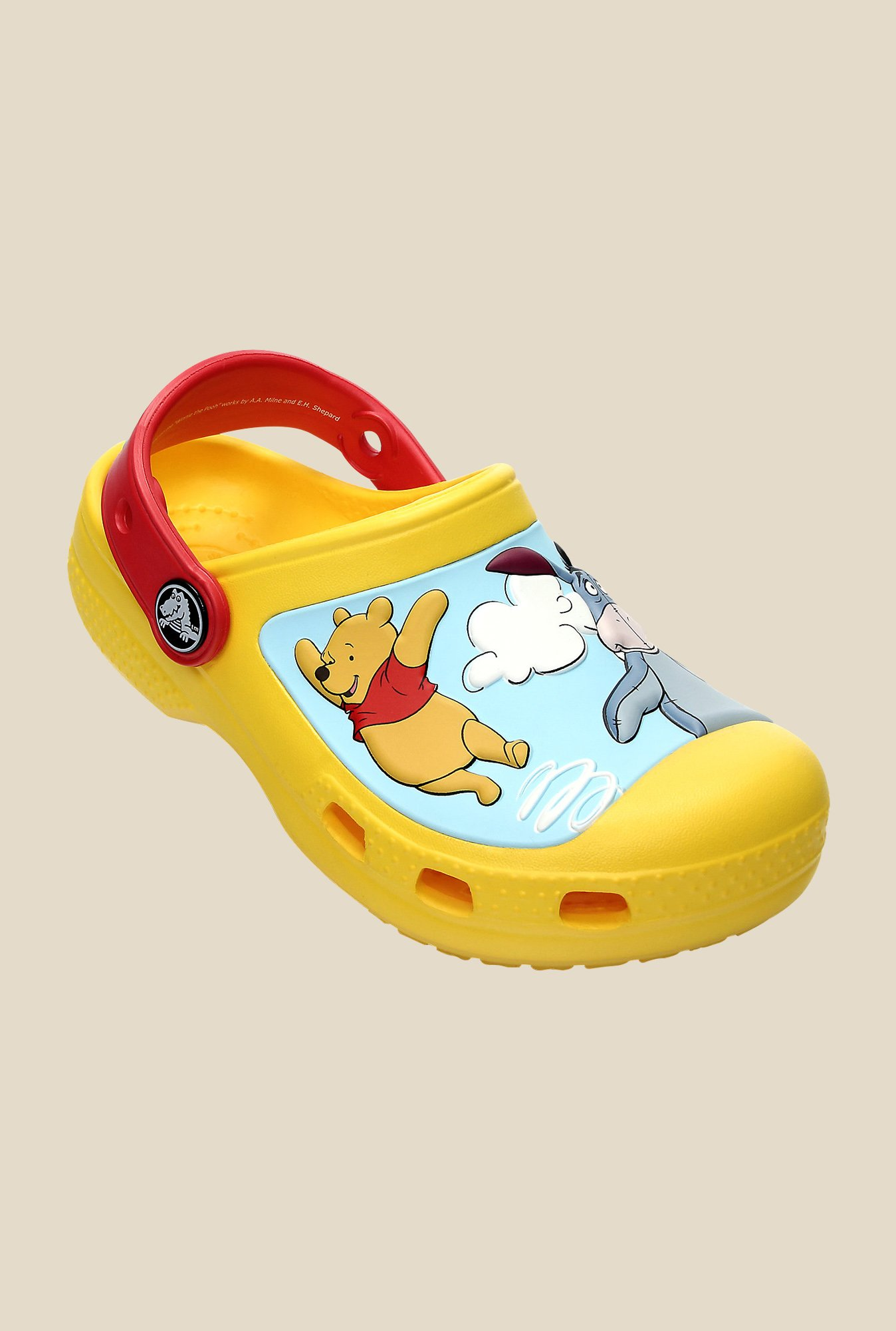 Crocs CC Winnie the Pooh Yellow & Red Clogs