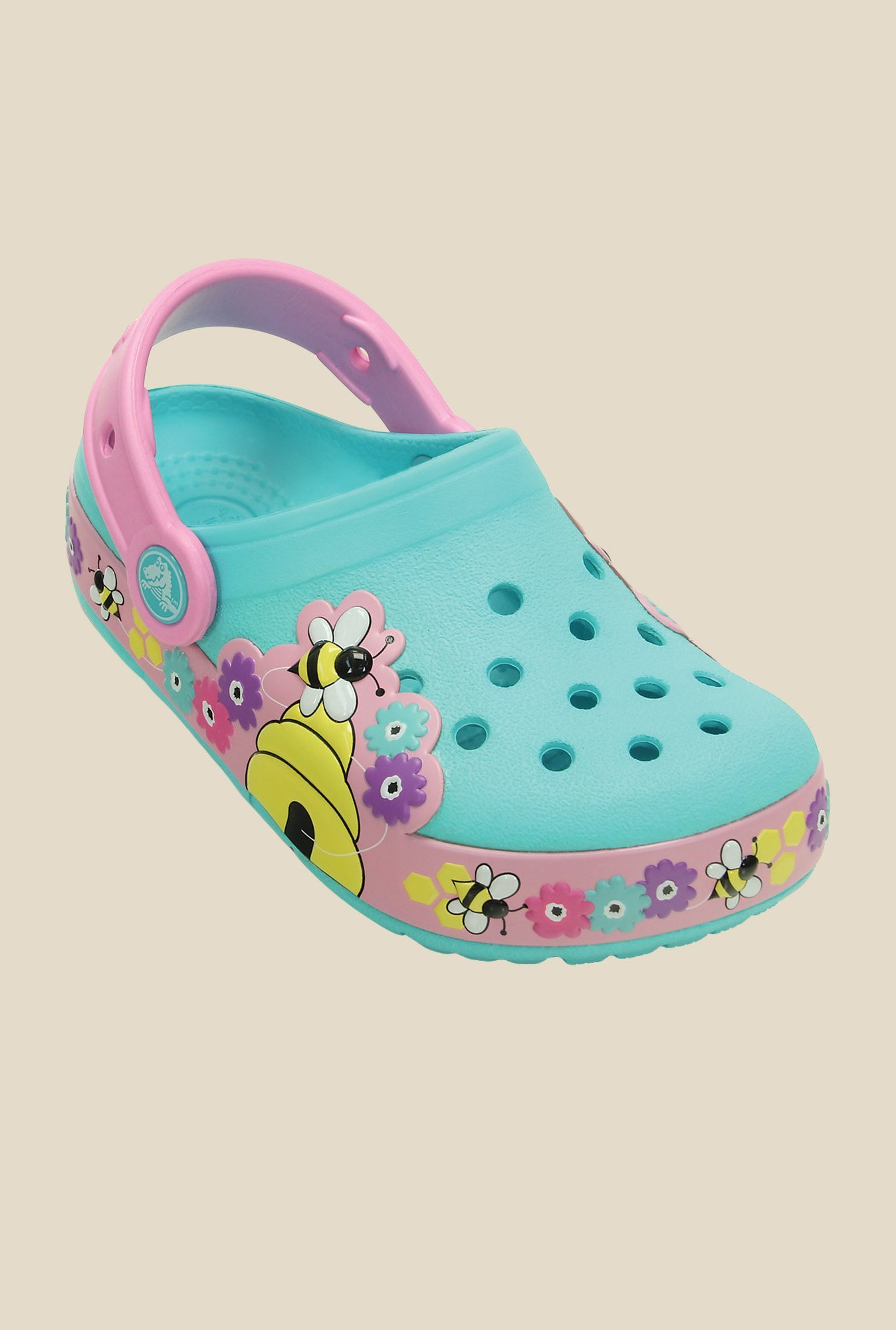 Crocs Lights Busy Bee PS Pool & Carnation Clogs