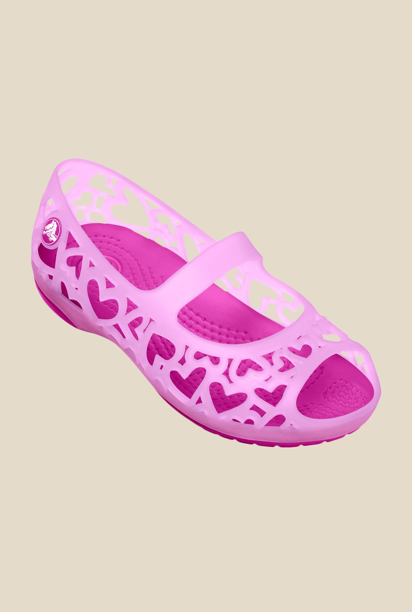 Crocs Adrina Hearts Carnation Mary Jane Shoes