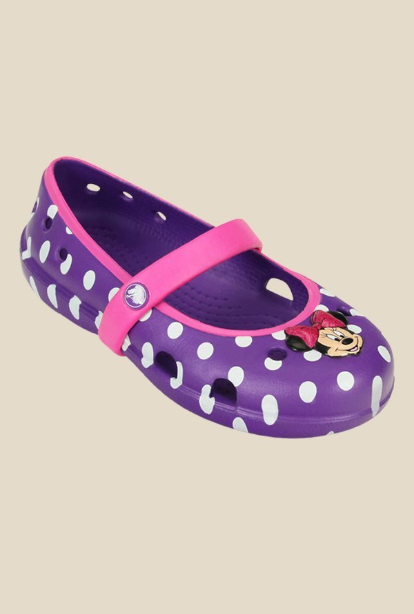 Crocs Keeley Disney Minnie Neon Purple Mary Jane Shoes