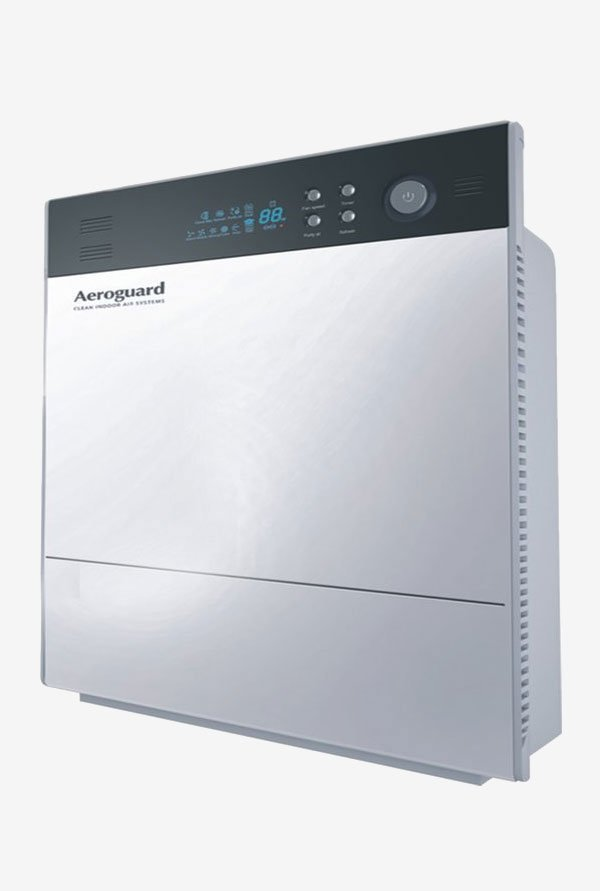 AeroGuard Wave Air Purifier (Black And Silver)