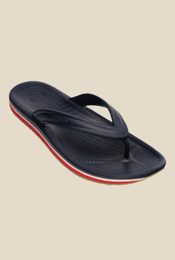 Crocs Retro Navy & Red Flip Flops
