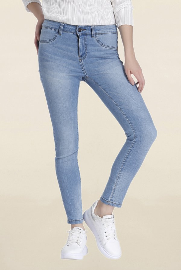 Vero Moda Blue Lightly Washed Jeans