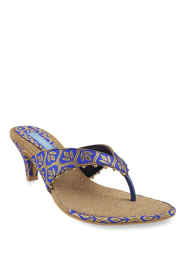 3eee9711c Buy Metro Royal Blue   Golden Thong Sandals for Women at Best ...
