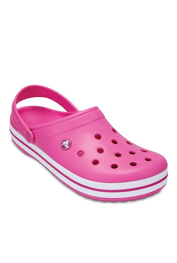 Crocs Crocband Party Pink Back Strap Clogs