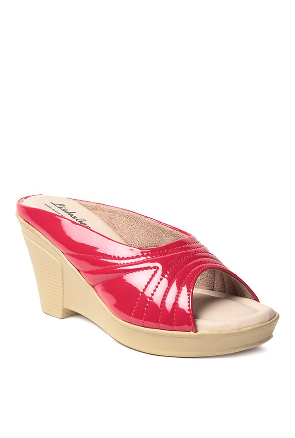 Lishabee by MSC Red Wedge Heeled Sandals