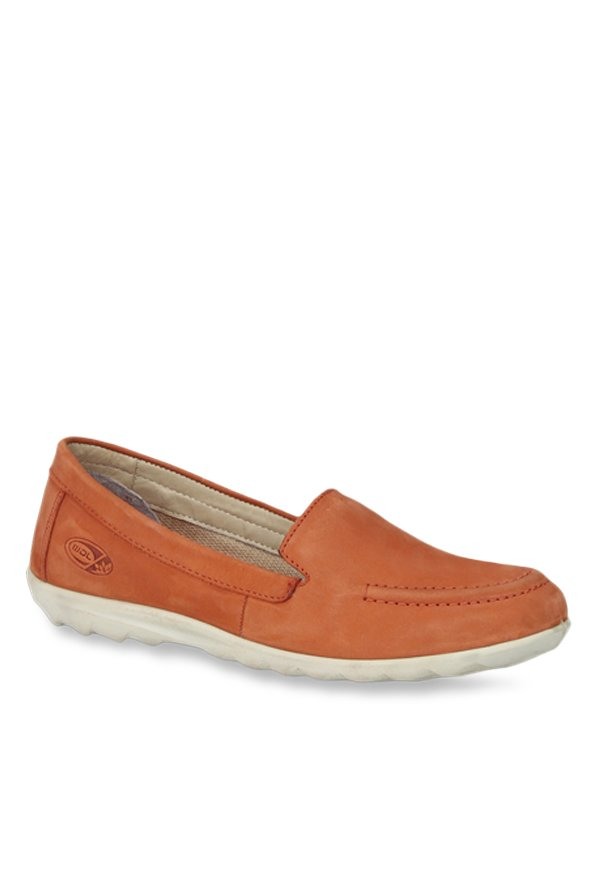 Woodland Orange Casual Loafers
