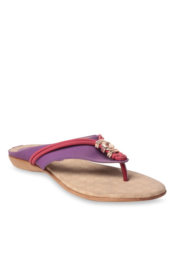 Lishabee by MSC Purple & Red Thong Sandals