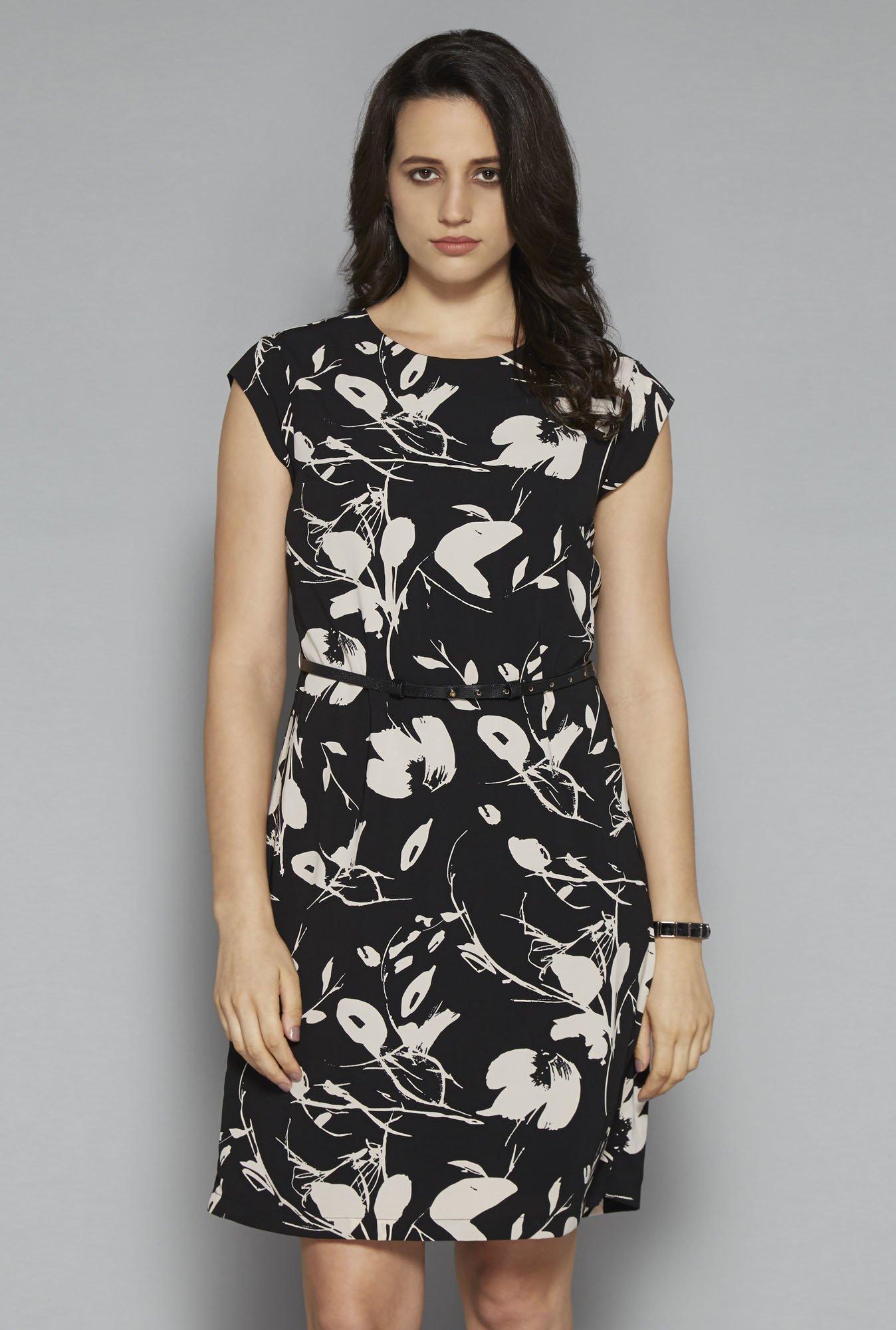 Wardrobe by Westside Black Tess Dress with Belt