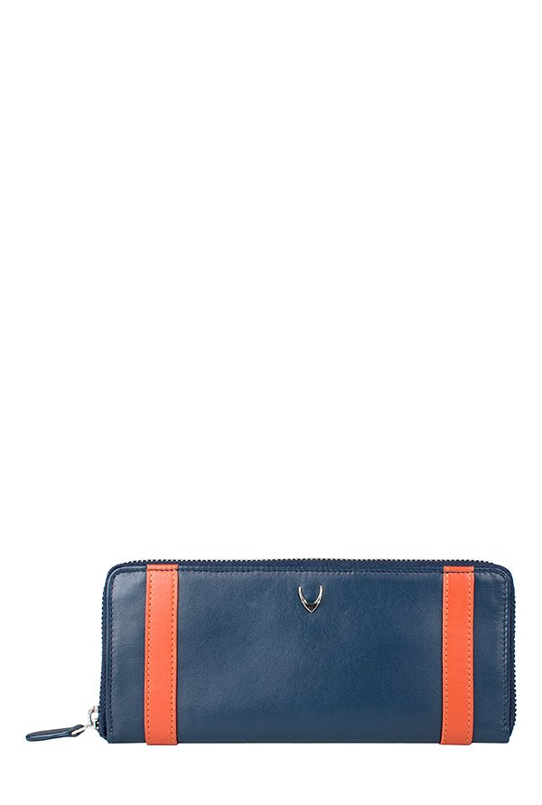 Hidesign Missy W4 (RFID) Navy & Tan Paneled Leather Wallet