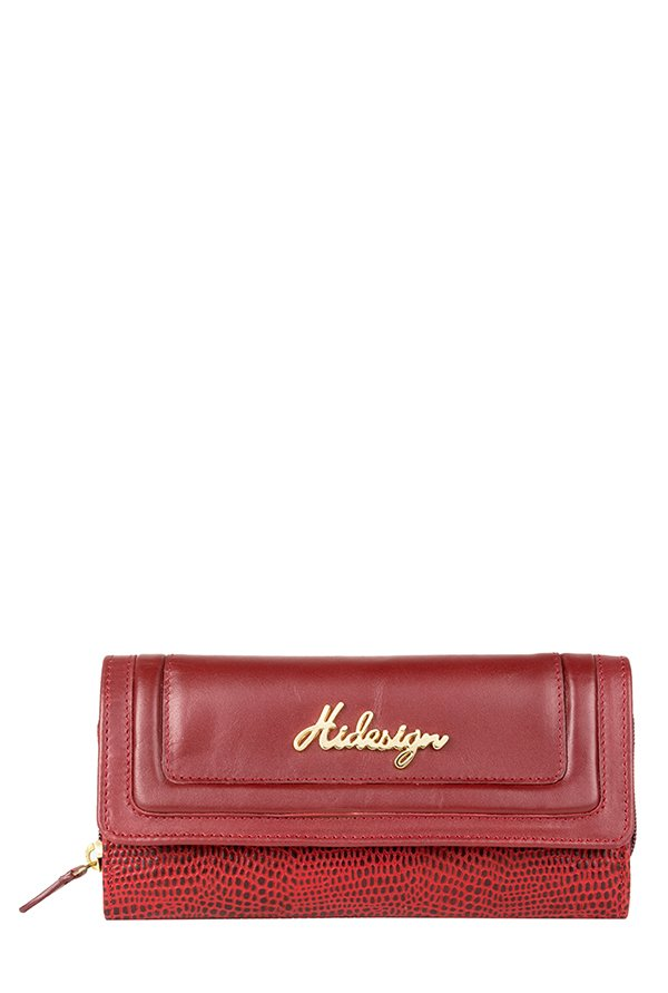Hidesign Hanbury W2 (RFID) Red Leather Tri-Fold Wallet