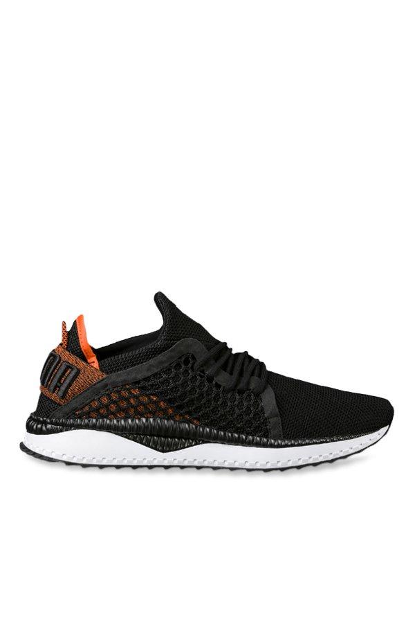 201ac8e832780 Buy Puma TSUGI Netfit Black   Orange Training Shoes for Men at Best Price    Tata CLiQ