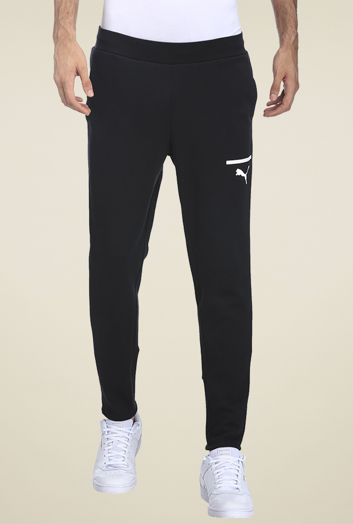 0d1e8ef497b3 Buy Puma Black Regular Fit Track Pants for Men Online   Tata CLiQ