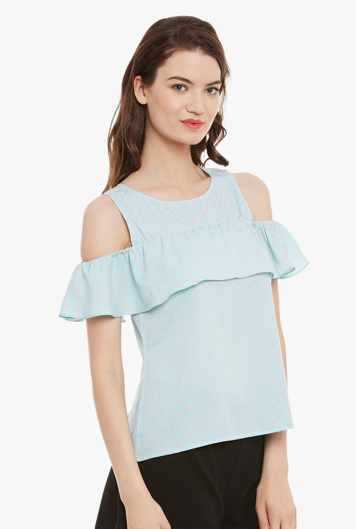 Athena Blue Printed Top
