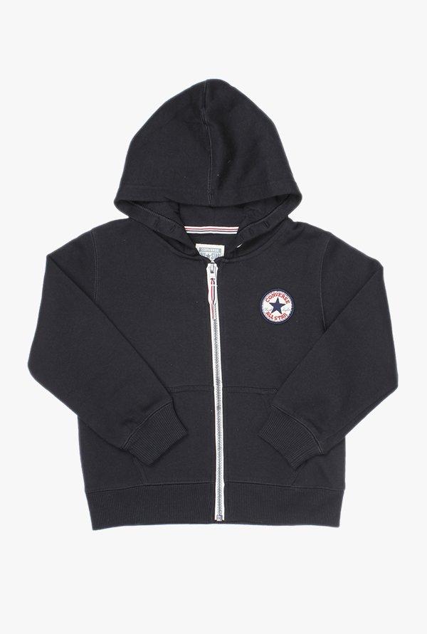595312321cdb Buy Converse Black Solid Hoodie for Boys Clothing Online   Tata CLiQ