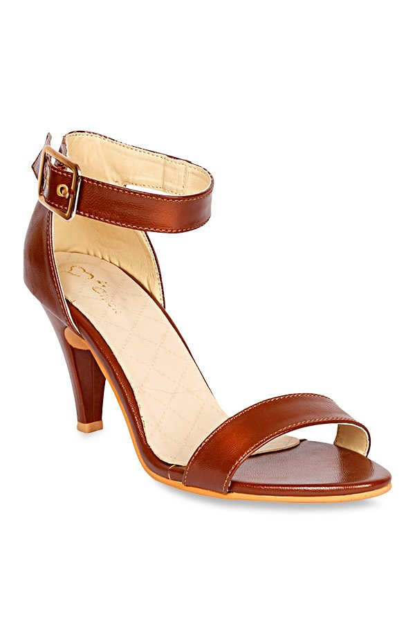 Lovely Chick Brown Ankle Strap Sandals