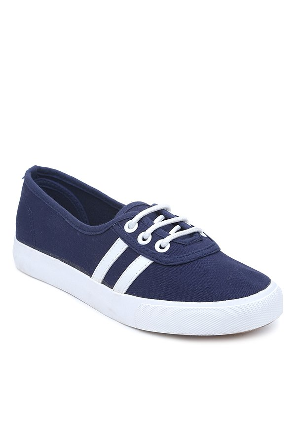 Lovely Chick Navy & White Casual Shoes