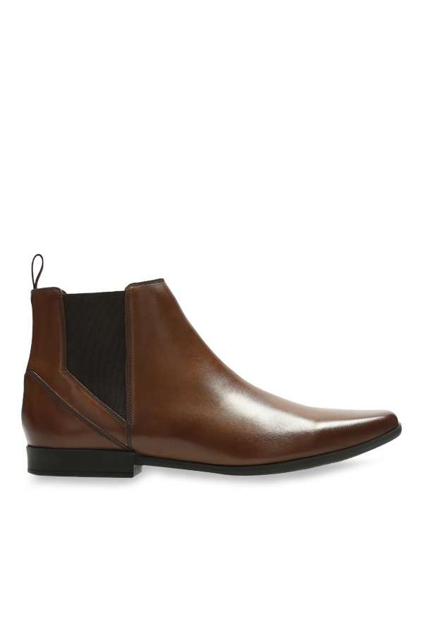 Buy Clarks Glement Top Brown Chelsea Boots For Men At Best Price