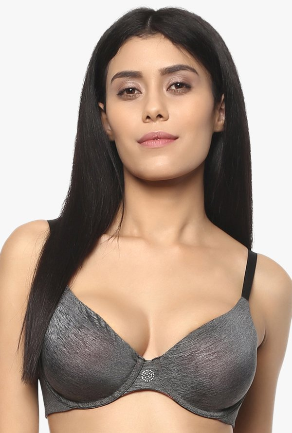 Soie Grey Under Wired Padded Seamless Bra