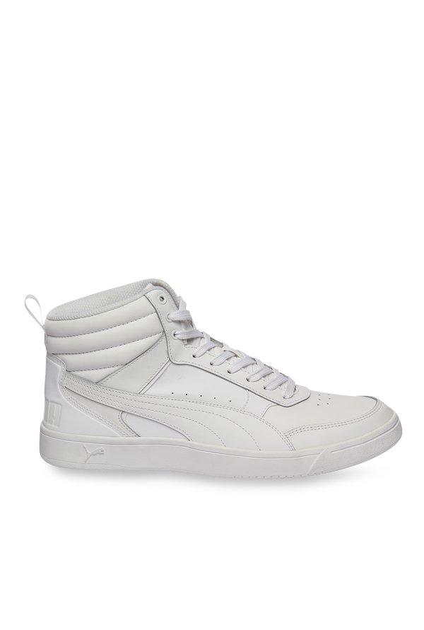 64048e4c2d63 Buy Puma Rebound Street V2 L White Ankle High Sneakers for Men at Best  Price   Tata CLiQ