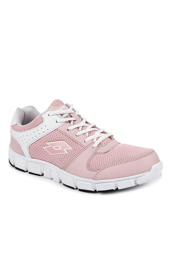 e9f10dfead82b Lotto Sancia Pink   White Running Shoes