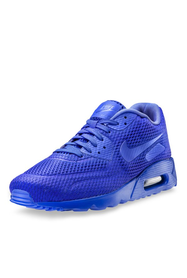 official photos 1634c 93db9 Buy Nike Air Max 90 Ultra Breathe Blue Running Shoes for Men at Best Price    Tata CLiQ