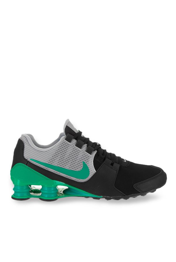 huge discount becd2 37274 Buy Nike Shox Avenue Ltr Black   Grey Running Shoes for Men at Best Price    Tata CLiQ