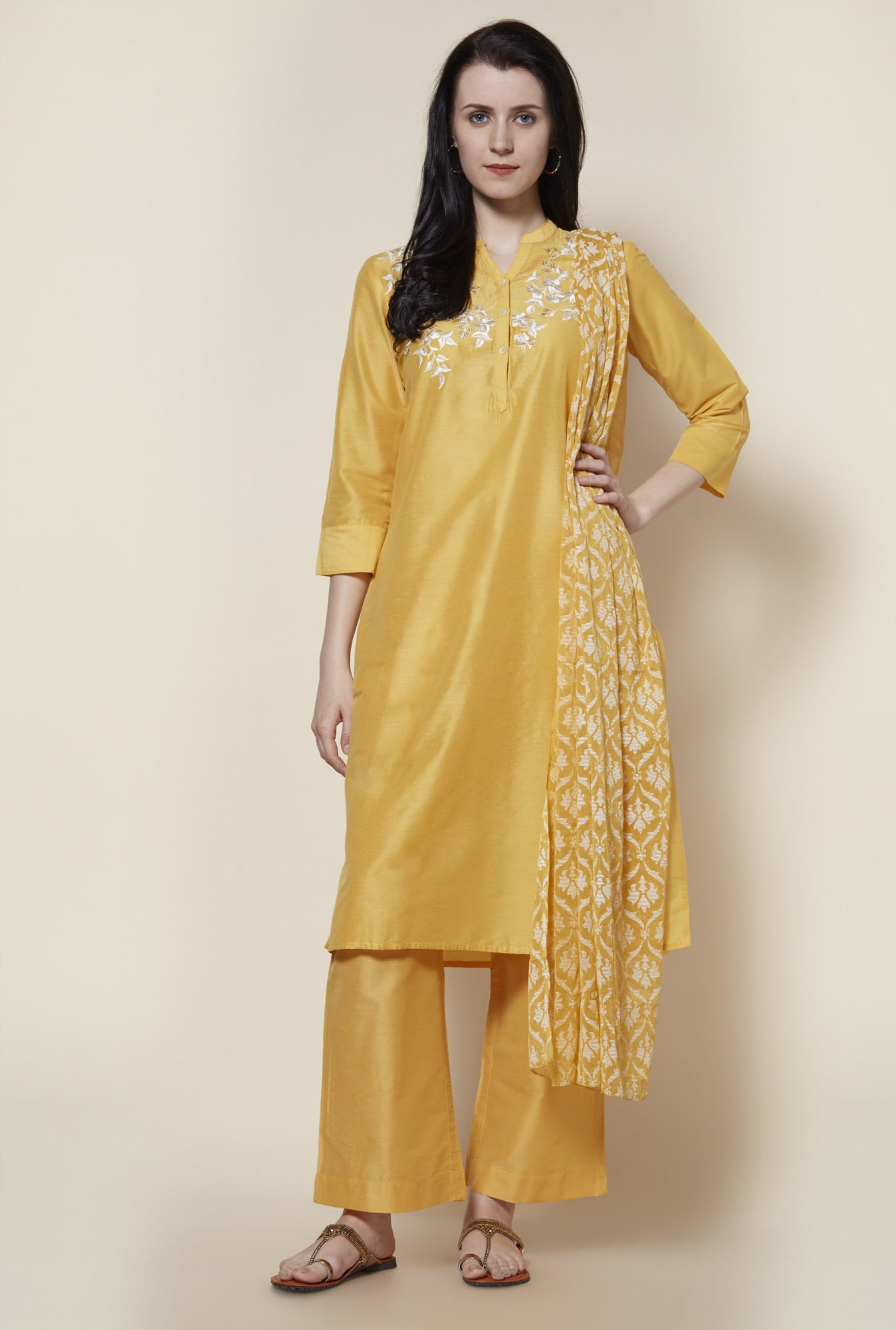 Zudio Yellow Ethnic Set