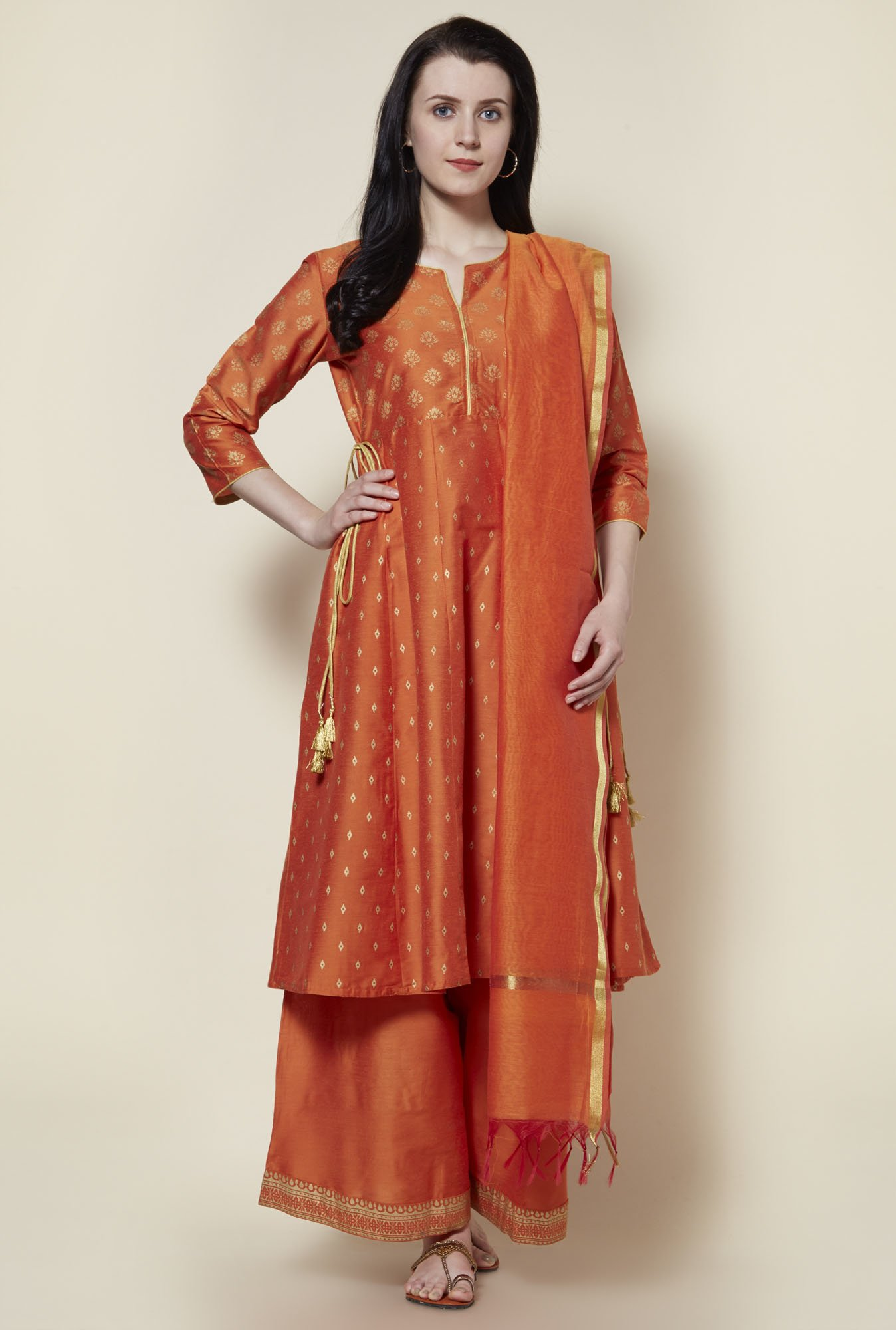 Zudio Orange Ethnic Set