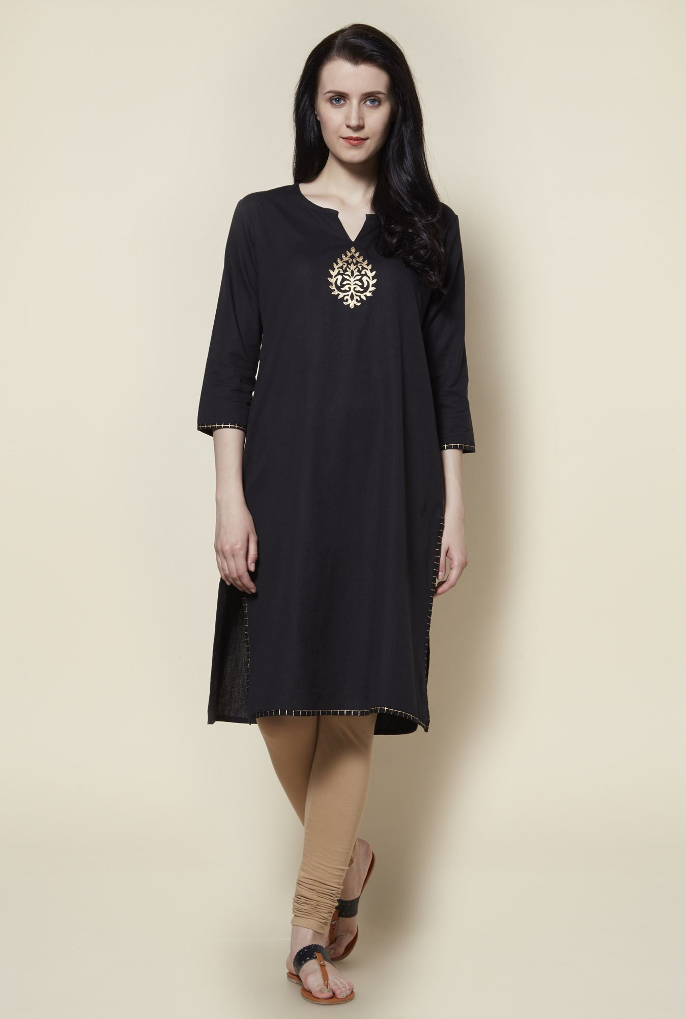 Zudio Black Kurta with Jacket
