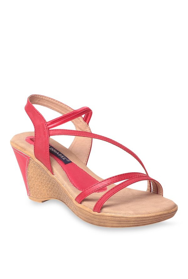 Lishabee by MSC Red Sling Back Wedges