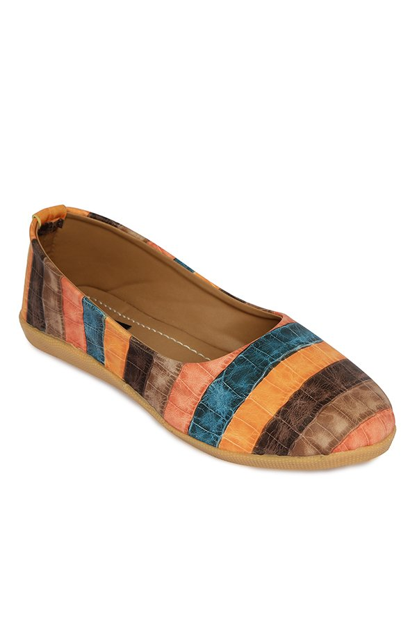 Cocoon Brown & Blue Flat Ballets