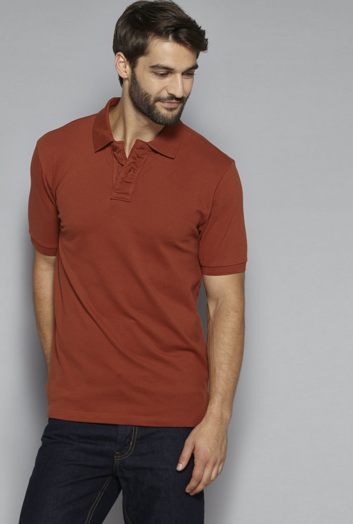 47ce28b8 Buy Westsport Casual by Westside Brown Slim Fit Polo T-Shirt for Men Online  @ Tata CLiQ