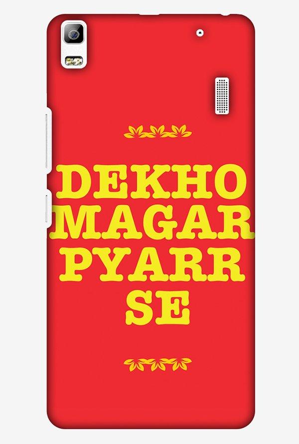 Amzer Dekho Magar Pyaar Se Designer Case For Lenovo A7000 Turbo K3 Note