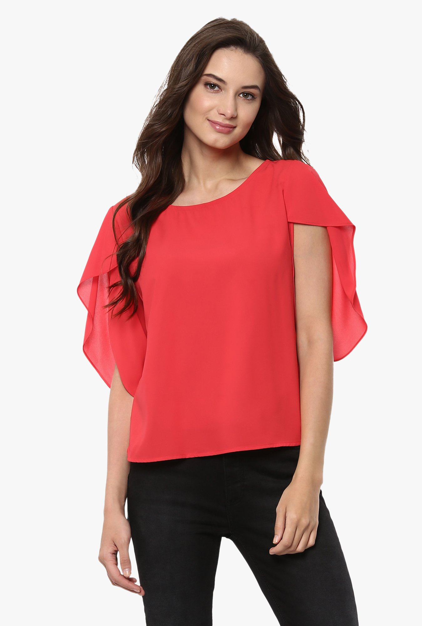 Pannkh Coral Polyester Top