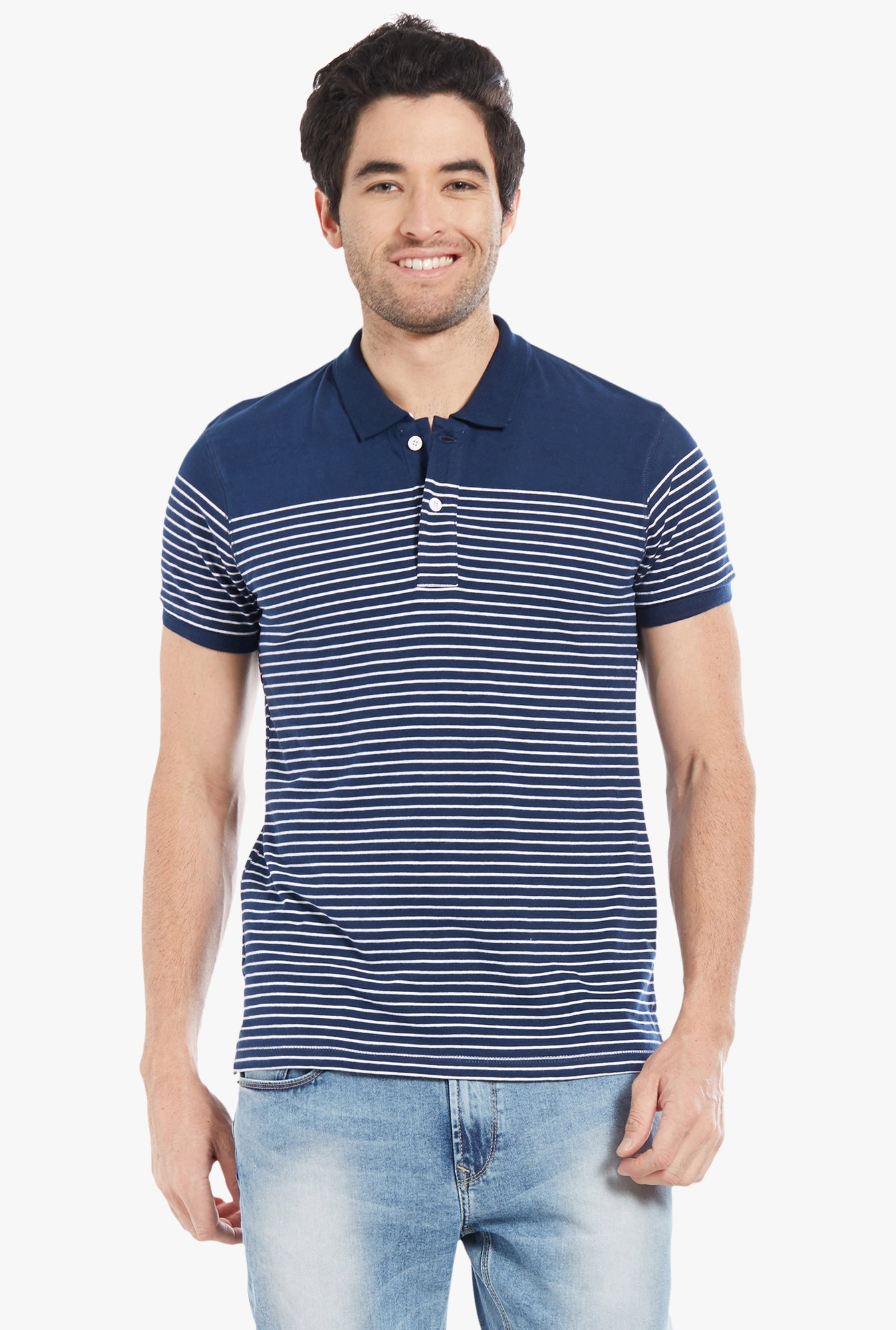 Globus Navy Striped Polo T-Shirt