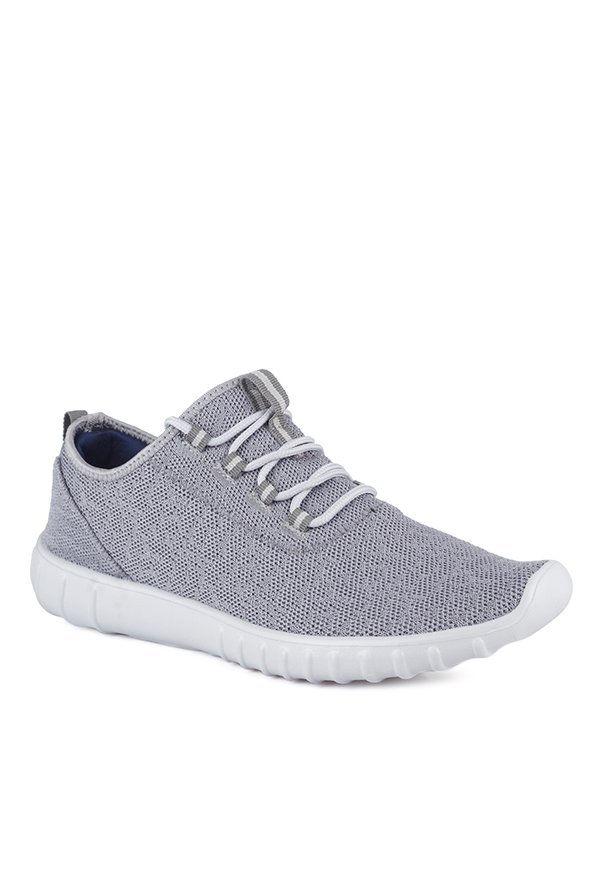 Buy Mufti Light Grey \u0026 White Sneakers