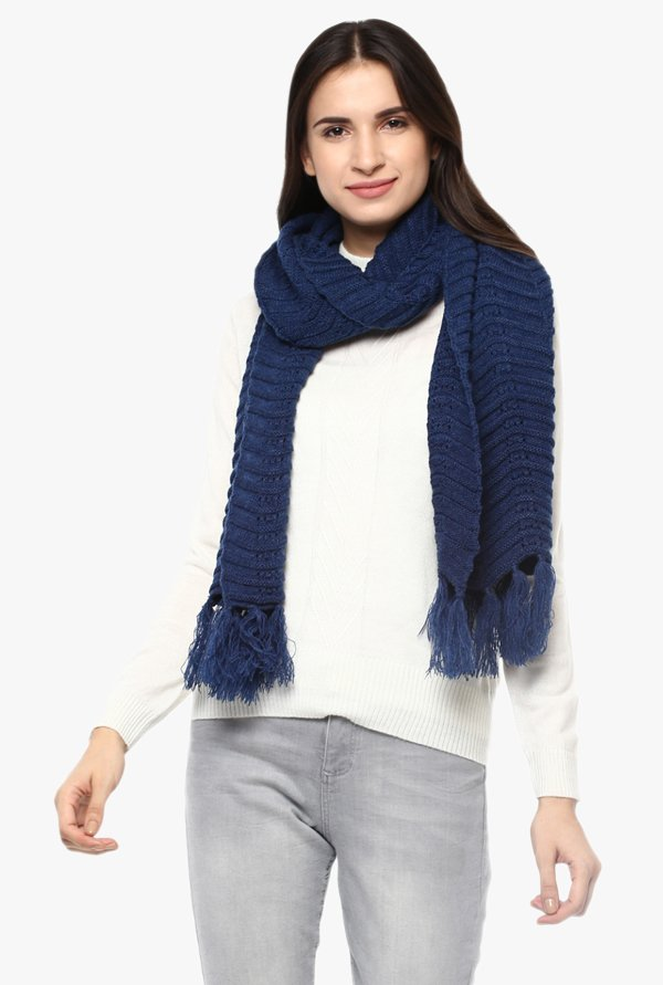 Cayman Navy Wool Stole