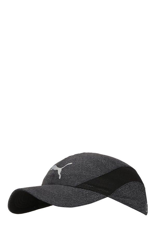 0d09f2ea172 Puma Puma Black   Grey Printed Polyester Running Cap