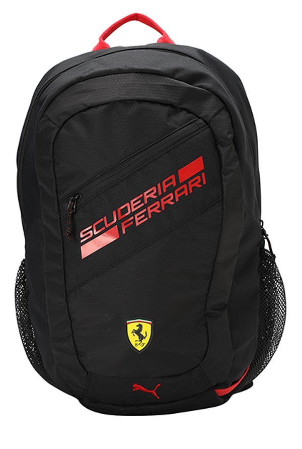 fd3bde5546 Buy Puma Ferrari Fanwear Black Textured Laptop Backpack Online At Best  Price   Tata CLiQ