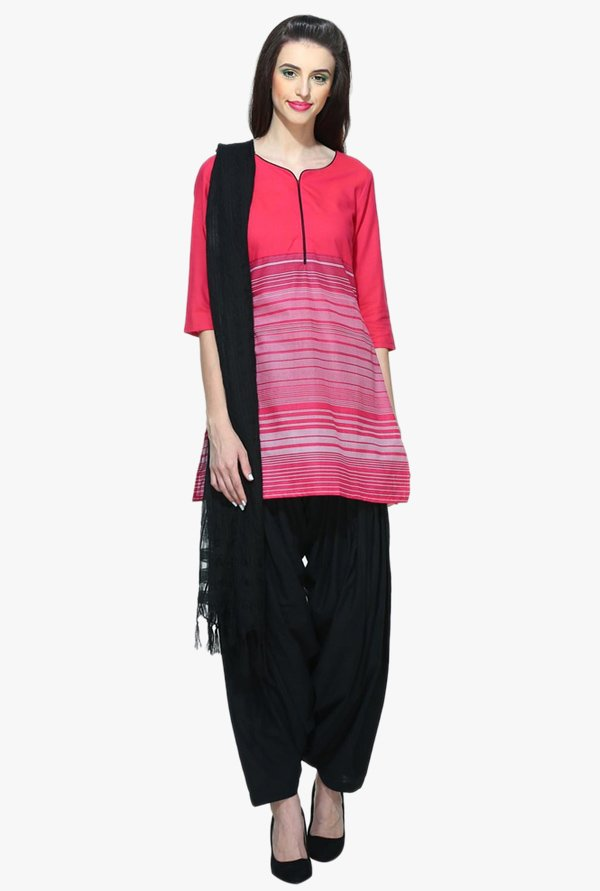 Aurelia Pink Striped Cotton Kurti