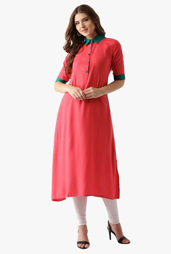 Libas Coral Regular Fit Rayon Kurta